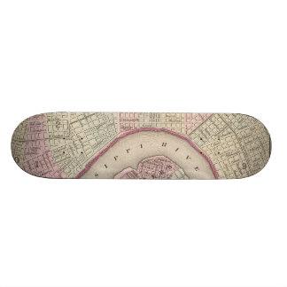 Vintage Map of New Orleans (1880) Skateboard
