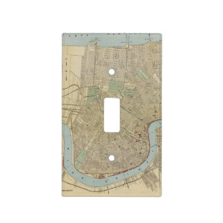 Vintage Map of New Orleans (1919) Light Switch Cover