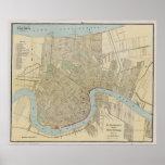 Vintage Map of New Orleans (1919) Print