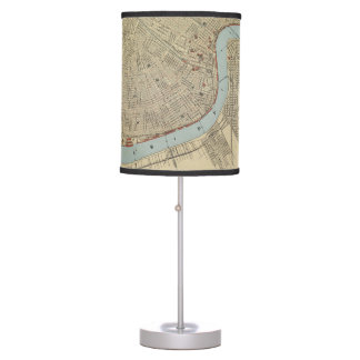 Vintage Map of New Orleans (1919) Table Lamp
