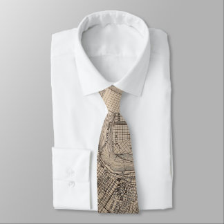 Vintage Map of New Orleans Louisiana (1902) Tie