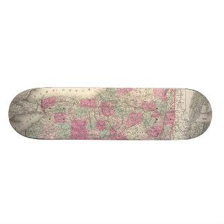 Vintage Map of New York (1864) Skate Deck
