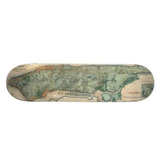 Vintage Map of New York City (1865) Custom Skateboard