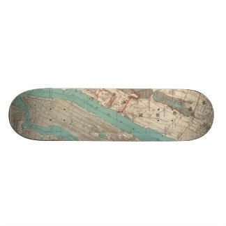 Vintage Map of New York City (1890) Custom Skateboard