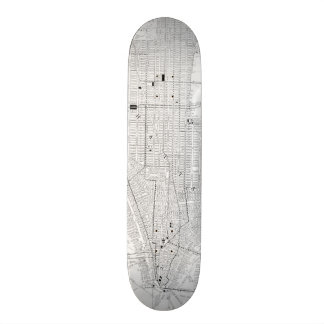 Vintage Map of New York City (1911) Skateboard