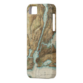 Vintage Map of New York City Harbor (1864) iPhone 5 Case