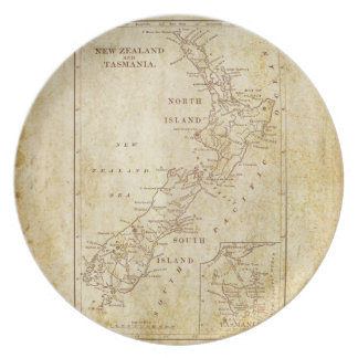 Vintage map of New Zealand c1879 Plates