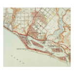 Vintage Map of Newport Beach California (1951) Poster