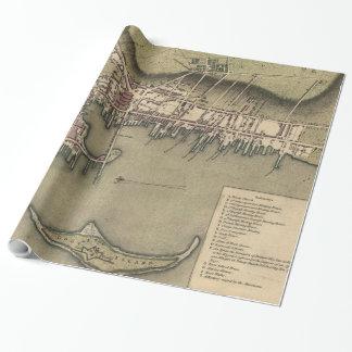 Vintage Map of Newport Rhode Island (1777)