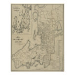 Vintage Map of Newport Rhode Island (1901) Poster