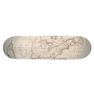 Vintage Map of North America (1719) Skateboard Decks