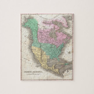 Vintage Map of North America (1827) Jigsaw Puzzle