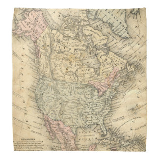 Vintage Map of North America Before Independence Bandana