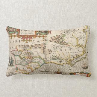Vintage Map of North Carolina (1638) Lumbar Pillow