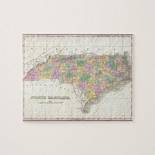 Vintage Map of North Carolina (1827) Jigsaw Puzzle