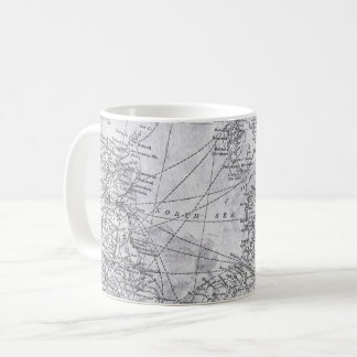 Vintage Map of Northern Europe, North Sea, Baltic Coffee Mug