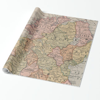 Vintage Map of Northern Ireland (1883) Wrapping Paper