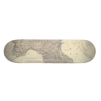 Vintage Map of Northern Italy 1861 Skateboard Deck