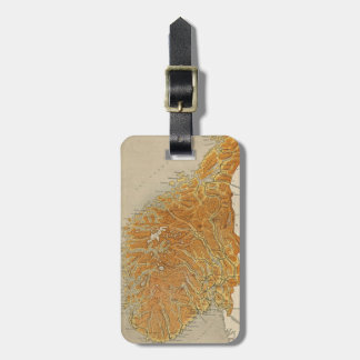 Vintage Map of Norway (1914) Luggage Tag