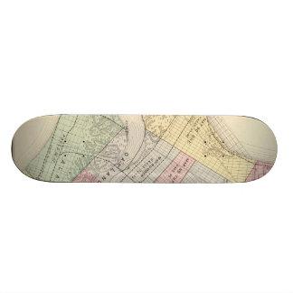 Vintage Map of Oakland California 1878 Skate Boards