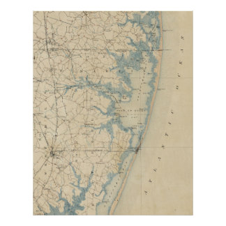 Vintage Map of Ocean City Maryland (1900) Poster