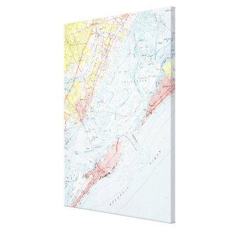 Vintage Map of Ocean City NJ (1952) Canvas Print