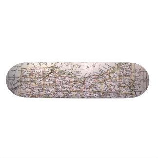 Vintage Map of Ohio (1884) Skate Board