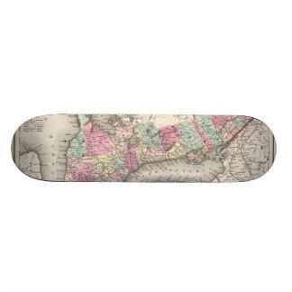 Vintage Map of Ontario (1857) Skate Board