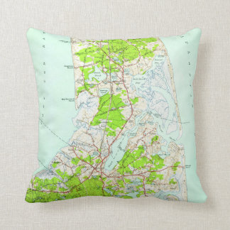 Vintage Map of Orleans Massachusetts (1946) Throw Pillow