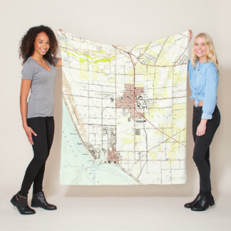 Vintage Map of Oxnard California (1949) 2 Fleece Blanket