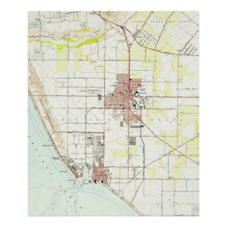 Vintage Map of Oxnard California (1949) 2 Poster