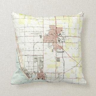 Vintage Map of Oxnard California (1949) 2 Throw Pillow