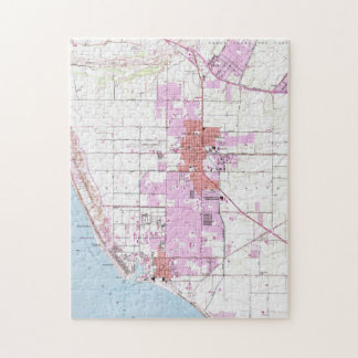 Vintage Map of Oxnard California (1949) Jigsaw Puzzle