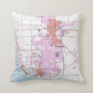 Vintage Map of Oxnard California (1949) Throw Pillow