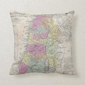 Vintage Map of Palestine (1853) Throw Pillow