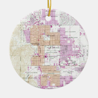 Vintage Map of Palm Springs California (1957) Ceramic Ornament