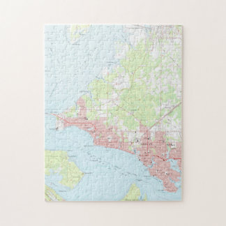 Vintage Map of Panama City Florida (1956) Jigsaw Puzzle