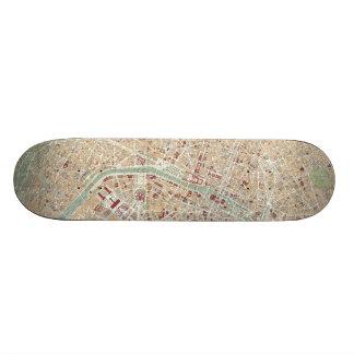 Vintage Map of Paris 1892 Custom Skateboard