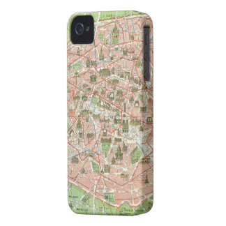 Vintage Map of Paris (1920) iPhone 4 Case
