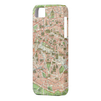 Vintage Map of Paris (1920) iPhone 5 Cases
