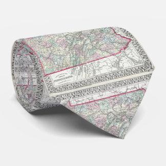 Vintage Map of Pennsylvania (1874) Tie