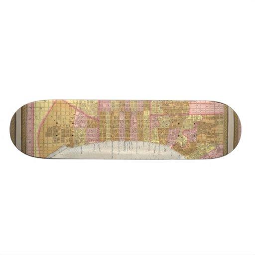 Vintage Map of Philadelphia (1846) Skate Deck