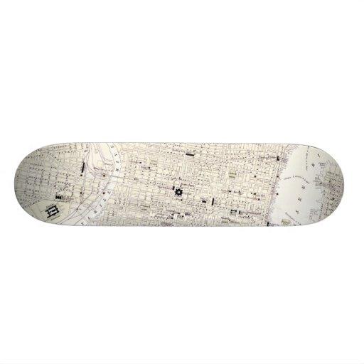 Vintage Map of Philadelphia (1885) Skateboards
