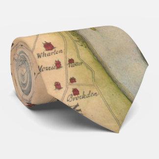 Vintage Map of Philadelphia Pennsylvania (1750) Tie
