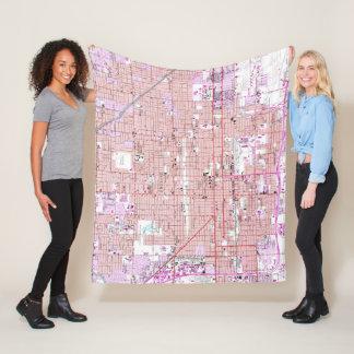 Vintage Map of Phoenix Arizona (1952) 2 Fleece Blanket