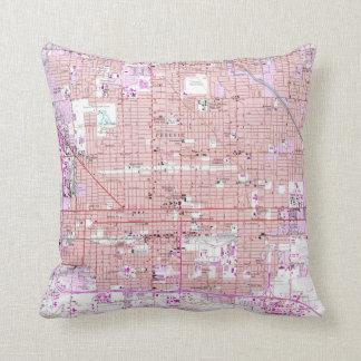 Vintage Map of Phoenix Arizona (1952) 2 Throw Pillow
