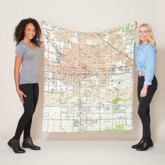 Vintage Map of Phoenix Arizona (1952) Fleece Blanket