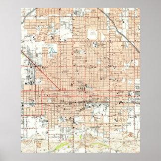Vintage Map of Phoenix Arizona (1952) Poster