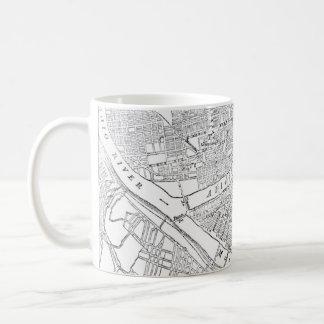 Vintage Map of Pittsburgh (1885) Coffee Mug