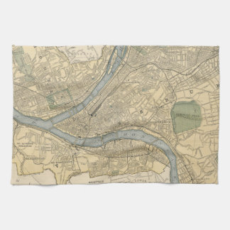 Vintage Map of Pittsburgh PA (1891) Hand Towel
